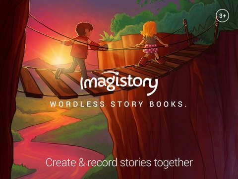 Imagistory - er gratis. Man kan gratis lave to fortællinger. Man får billeder, som eleverne så laver deres mundtlige fortælling til. De lærer at lave en rød tråd i en historie. Der er også en købeversion til 59 kr.