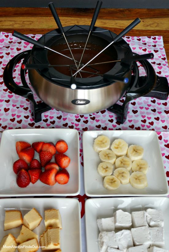 Chocolate Fondue Recipe - Fun Family Night Idea - Valentine's Day Party - Mom Always Finds Out