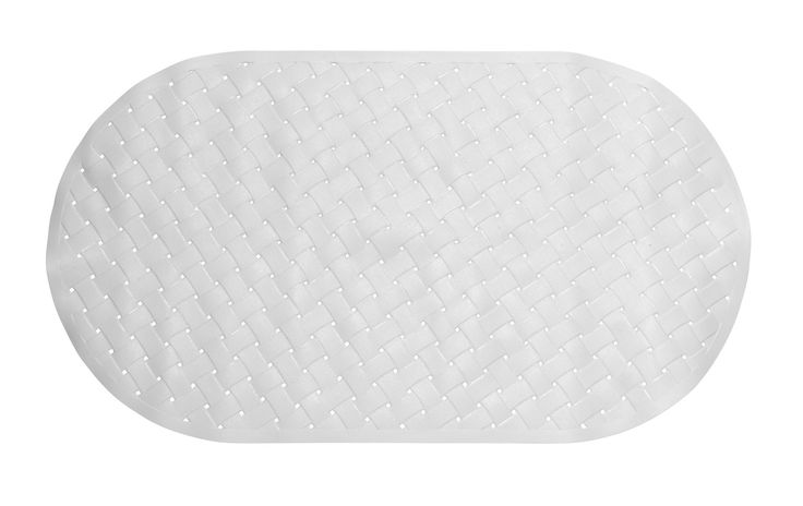 "Weave Look Vinyl Bath Tub Mat, Size 15""x27"""