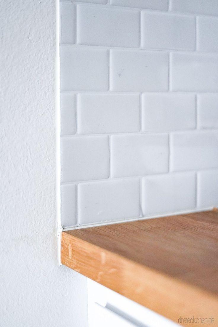Dreimalanders Spritzschutz Fliesenaufklebern Kuchenruckwand Mit Spritzschutz Aus Fliesenaufklebern Metro Tiles In 2020 Ikea Keuken Metro Tegel Keuken Keuken Idee