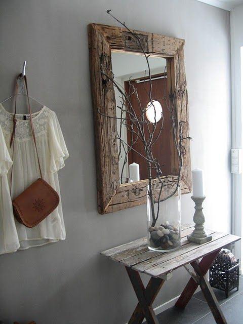 pallet wood mirror