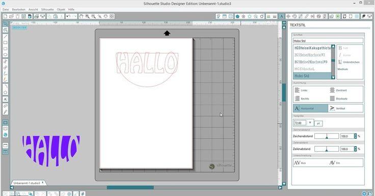 Schrift an eine Form mit der Silhouette Designer Edition anpassen - Silhouette Tipps & Verpackungs Ideen von Jette
