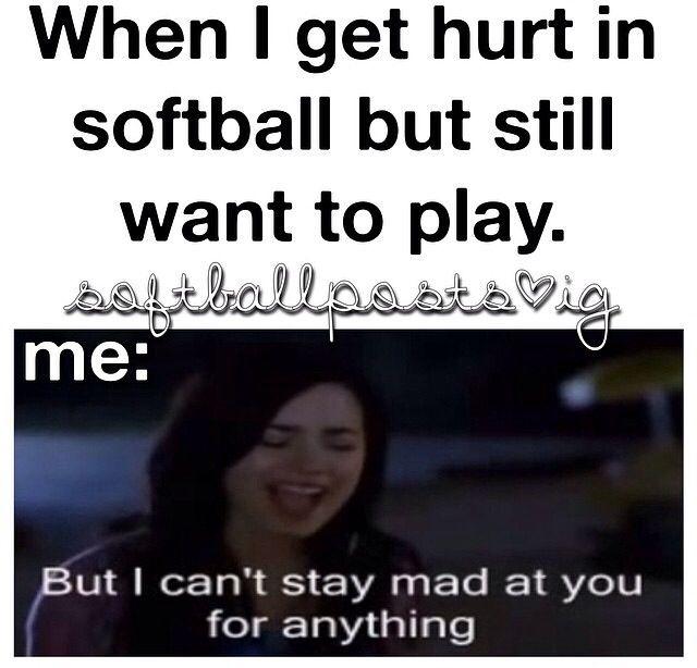 Funny softball post