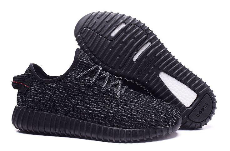 Adidas 350 Kanye West Yeezy Men Woman Running Shoes black