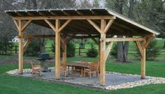 outdoor shelter ideas | Timber Frame Pergolas, Timber Frame Porches Pavilions, Custom Timber ...