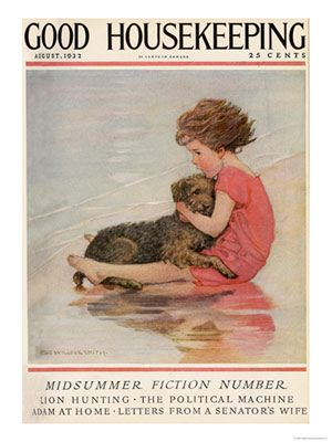 Jessie Wilcox Smith - Vintage Magazine Covers - Good Housekeeping, August 1922.