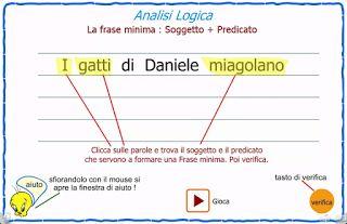 SIAMO IN SECONDA: analisi logica