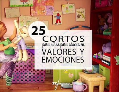 AYUDA PARA MAESTROS: 25 cortometrajes educativos sobre valores y emocio...