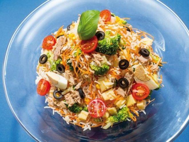Receita Entrada : Salada de arroz colorida de Saborosareceita