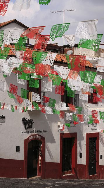 The national colours of Mexico come out every September for Independence Day.