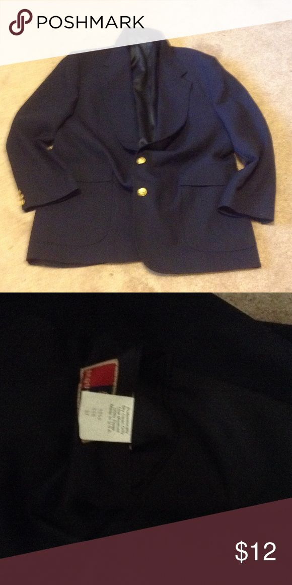 Navy Sports Coat This lightly worn navy sports coat is a classic and a must have in any closet. Requirements Suits & Blazers Sport Coats & Blazers