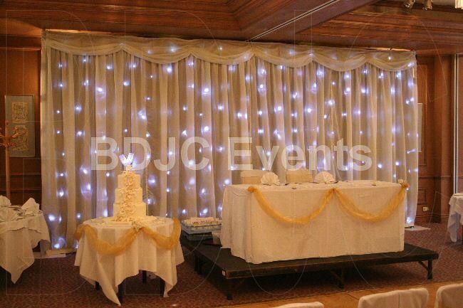 Rustic Wedding Backdrop Decoration  Starlight Wedding