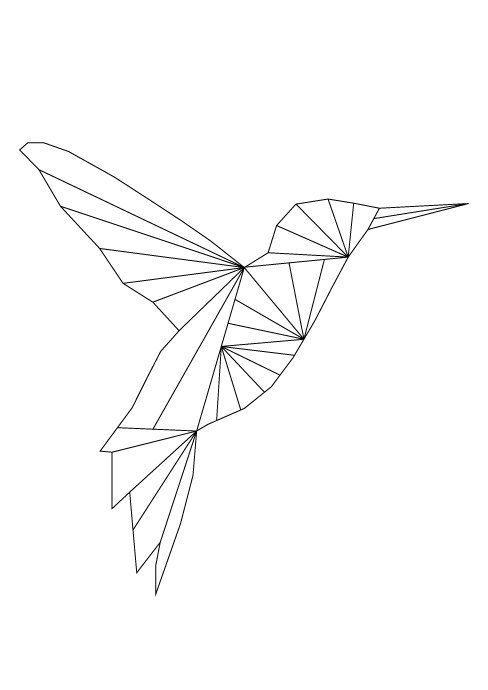 Kolibri-Kunst, Kolibri-Print, Kolibri-Poster, Kolibri zum ausdrucken, Kolibri-Wandkunst, geometrische Tiere, geometrisch zum ausdrucken