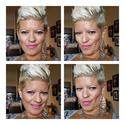 My favorite look Pink Inspired bleach blond hair and a great tan.