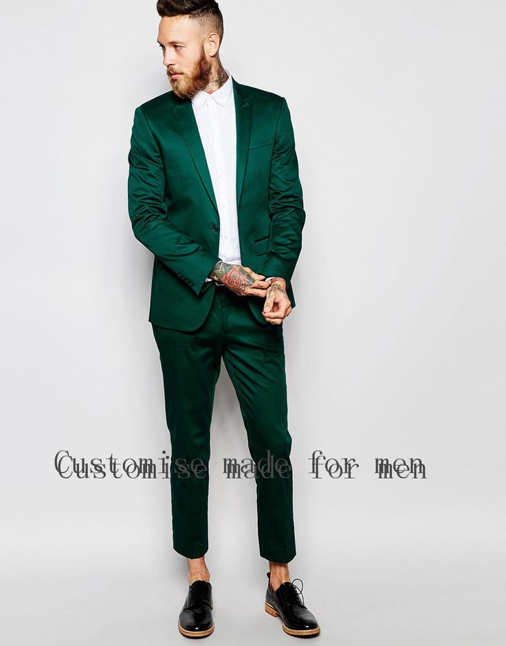 Зеленый костюм для жениха на свадьбу