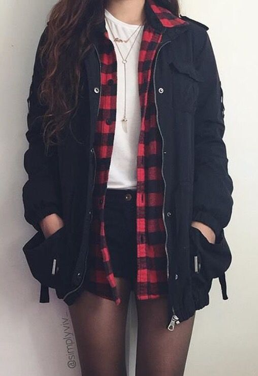 Plaid shirt outfit IG: @simplyviv_