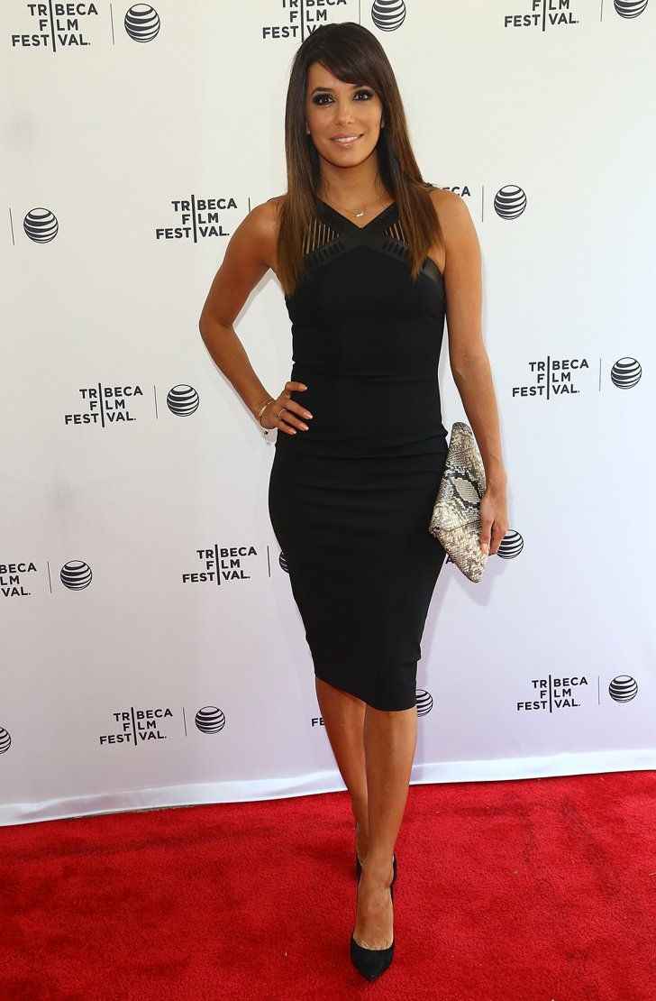 Pin for Later: See All the Stars at the Tribeca Film Festival  Eva Longoria attended a talk about Food Chains.