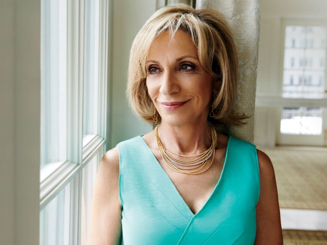 Andrea Mitchell wearing our Marco Bicego Cairo Gold and Diamond Seven Strand Necklace. http://bit.ly/1PNTZgB