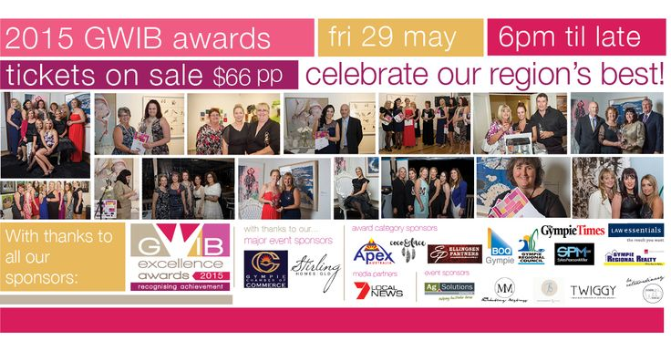 Grab a friend or 10 and book your ticket to an Awesome night out! Don't miss a great night out and the opportunity to celebrate our regions best Women! 29 May from 6pm @ The Function Room, Below The Decks Tickets are $66 pp inc drink on arrival, canapes and finger food all night plus dessert bar!