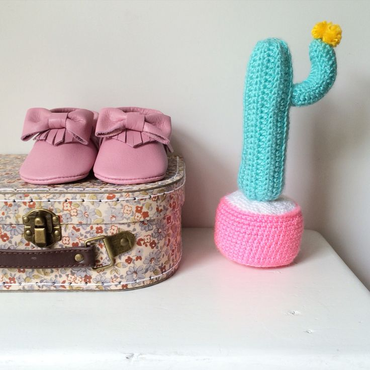 Crochet Cactus Home Decor