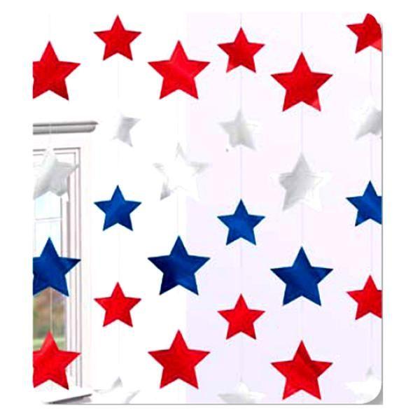 Pack 6 Tiras Colgantes Estrellas Americanas