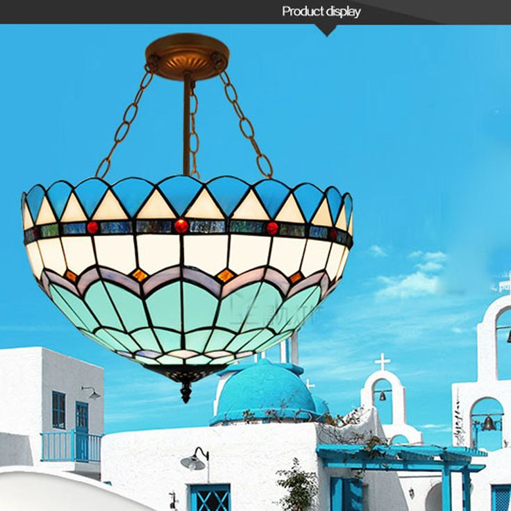 Tiffany Blue Ceiling Glass Lamps Mediterranean style 20/30/40/50/60cm with E27 110-240V LED Chain Pendant Lights Luminarias. Yesterday's price: US $70.00 (57.88 EUR). Today's price: US $46.90 (38.81 EUR). Discount: 33%.