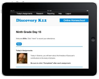 Discovery K12 is an online homeschool platform and curriculum for students from kindergarten through twelfth grade
