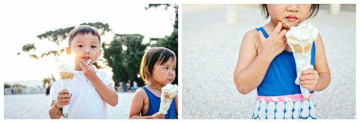 Family shooting in Rome #italy #family #portraits #kids #holidays #italianholidays #rome #icecream