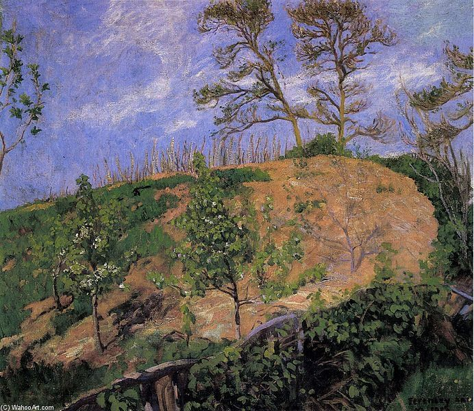 Paysage au printemps de Karoly Ferenczy (1862-1917, Hungary)