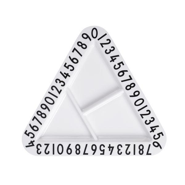Image of Melamine triangular snack plate - kids