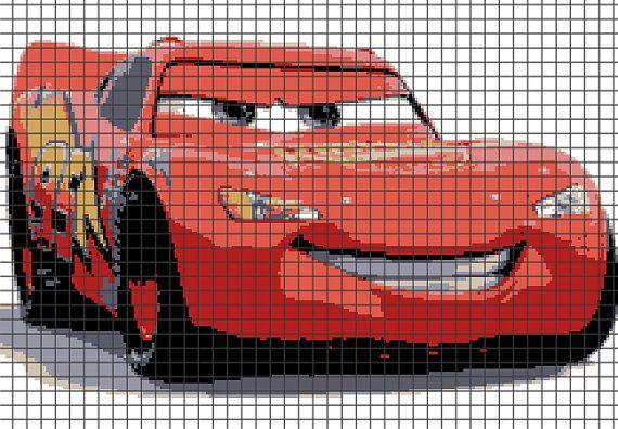 Cars - Lightning McQueen - Crochet Pattern (Chart/Graph AND Row-by-Row Written Instructions) - 02