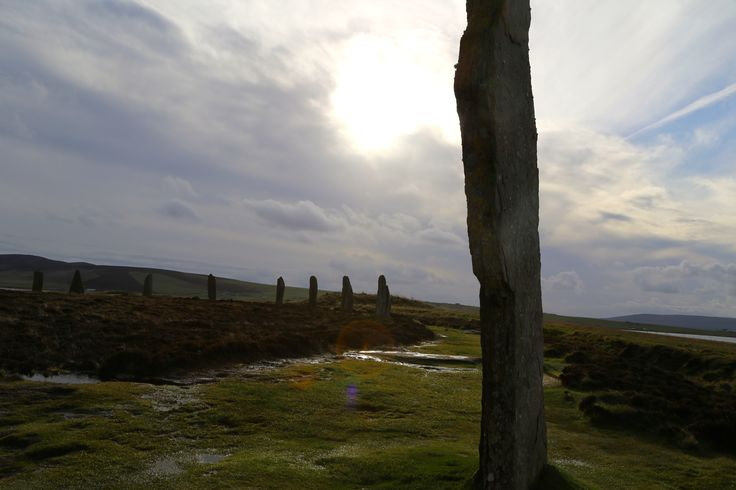 Standing stones in the Orkneys