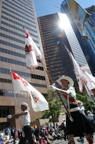 On July 8th, over 110 air, army and sea cadets from the Calgary area, including their officers and volunteers, converged onto the downtown streets during one of the world's largest parades –The Calgary Stampede 2011. (3016 Royal Canadian Army Cadets - Airdrie)