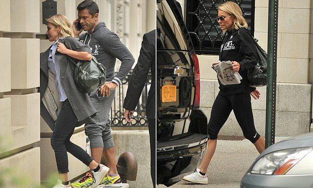 Kelly Ripa heads to the gym with husband Mark Consuelos