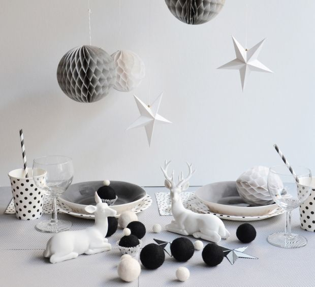Table de no l inspiration nature table de no l nos - Idee deco de table noel ...