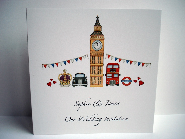 26 best london themed wedding stationery images on pinterest london style wedding invitation 150 stopboris Gallery
