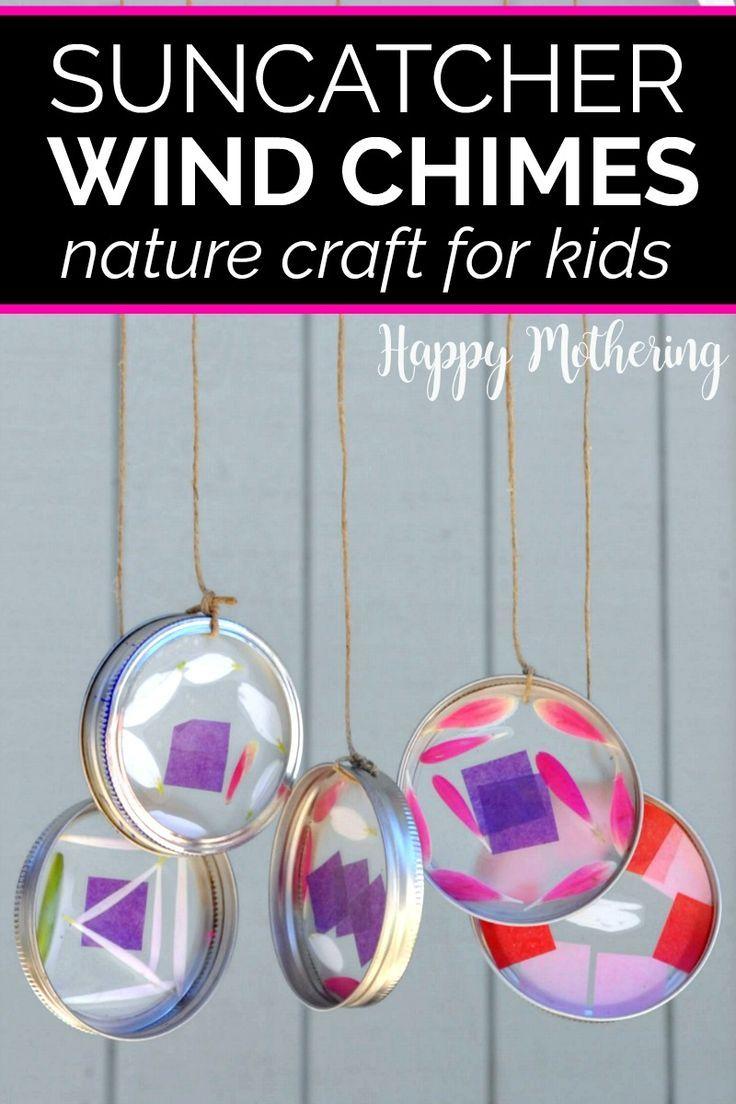 Suncatcher Wind Chimes Nature Craft Fun Crafts For Kids Nature Crafts Wind Chimes