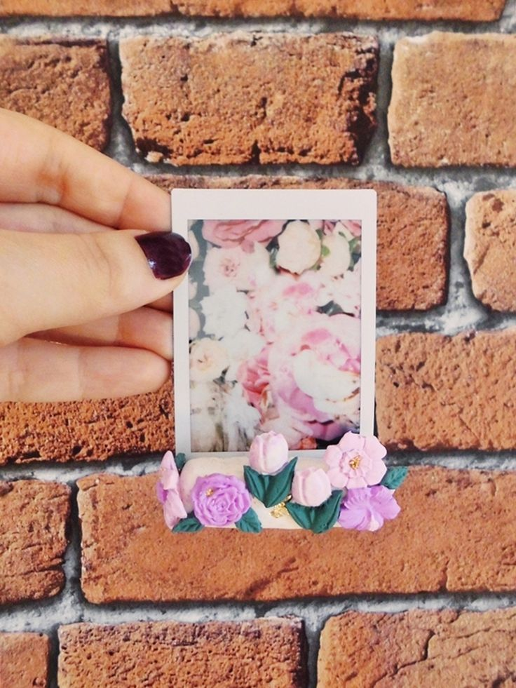 Do it yourself Instax Mini Fotohalter aus Silk Caly, Polymer Clay, Modelliermasse, DIY Fotohalter, DIY Bilderrahmen, DIY Instax, DIY Instax mini 90 neo