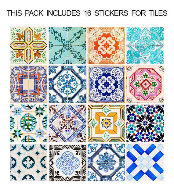 Traditionele Spaanse Tegels Vloertegels Floor door homeartstickers