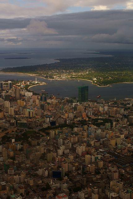 Dar Es Salaam from the air, Tanzania