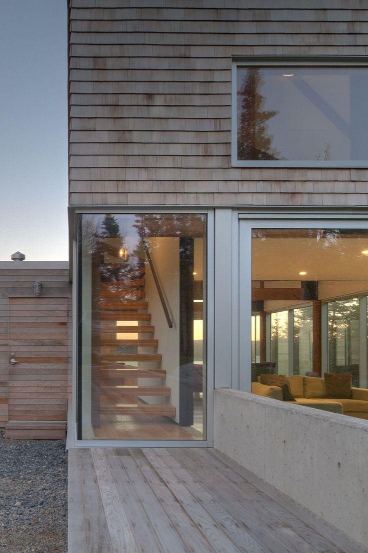 Martin Lancaster House By MacKay Lyons Sweetapple Architects 8 Cedar  Shingles Cascading Down A Modern Courtyard
