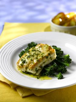 Pan-fried Hake with Lemon Butter Sauce
