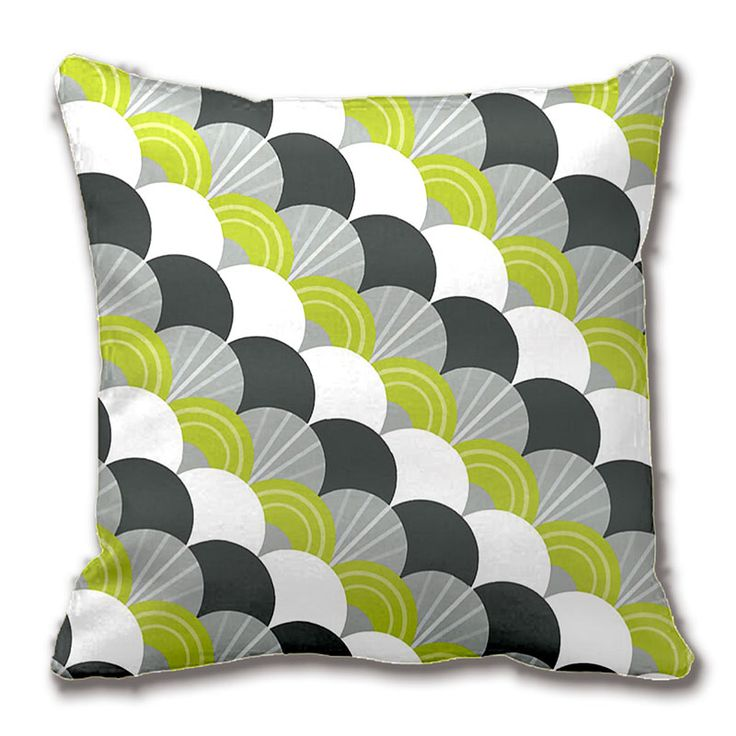 modern scallop fan pattern charcoal grey green throw pillow decorative cushion cover pillow case customize gift - Beste Wohnzimmerzubehor