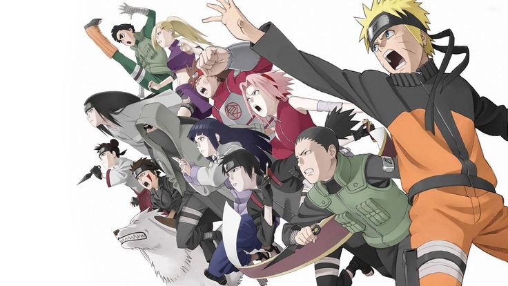 Naruto And Friends Anime Wallpaper