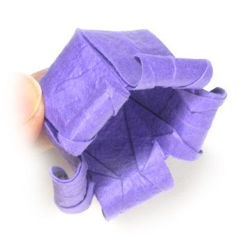 How to make an origami Canterbery bells flower (http://www.origami-flower.org/origami-canterbery-bells-flower.php)