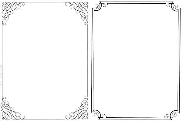 microsoft word page borders templates