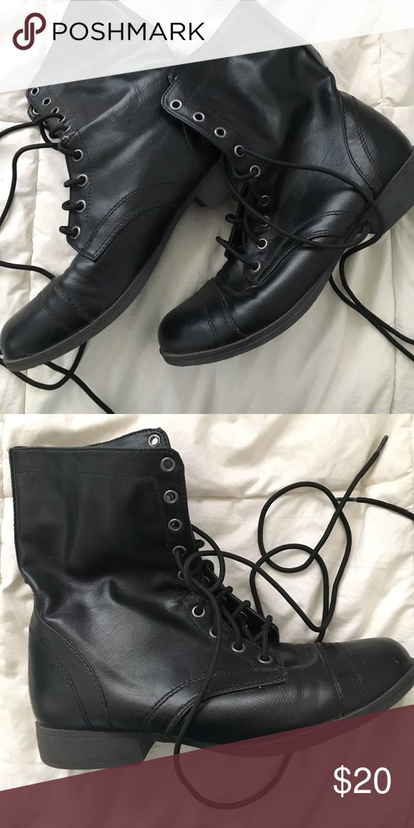 Combat Boots Black combat boots from Payless. size 9. only worn once  Payless Shoes Lace Up Boots