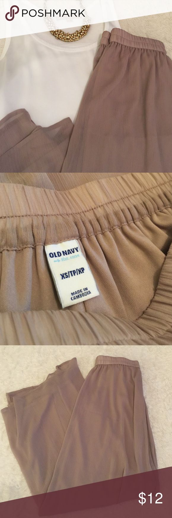 NWOT Old Navy Maxi Skirt Light and airy taupe colored Maxi skirt. Fully lined. Old Navy Skirts Maxi
