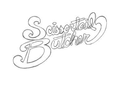 Vintage style logo for butcher