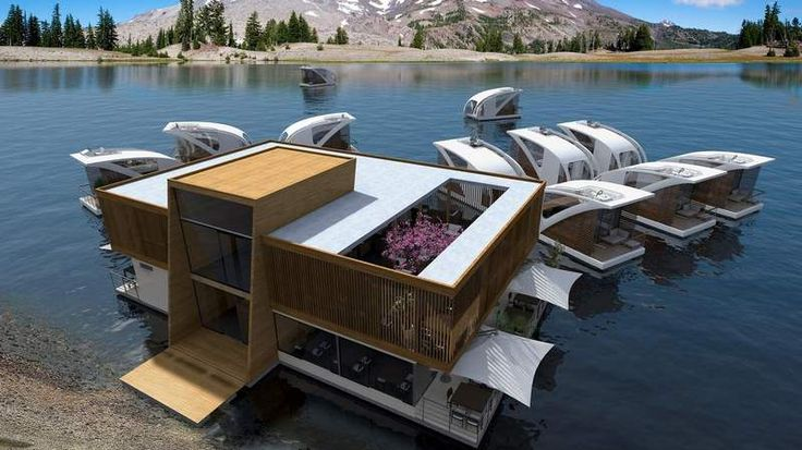 Amazing floating Catamaran hotel concept - The floating hotel concept, created by Serbian yacht designers Salt & Water, allows guests to sail away.